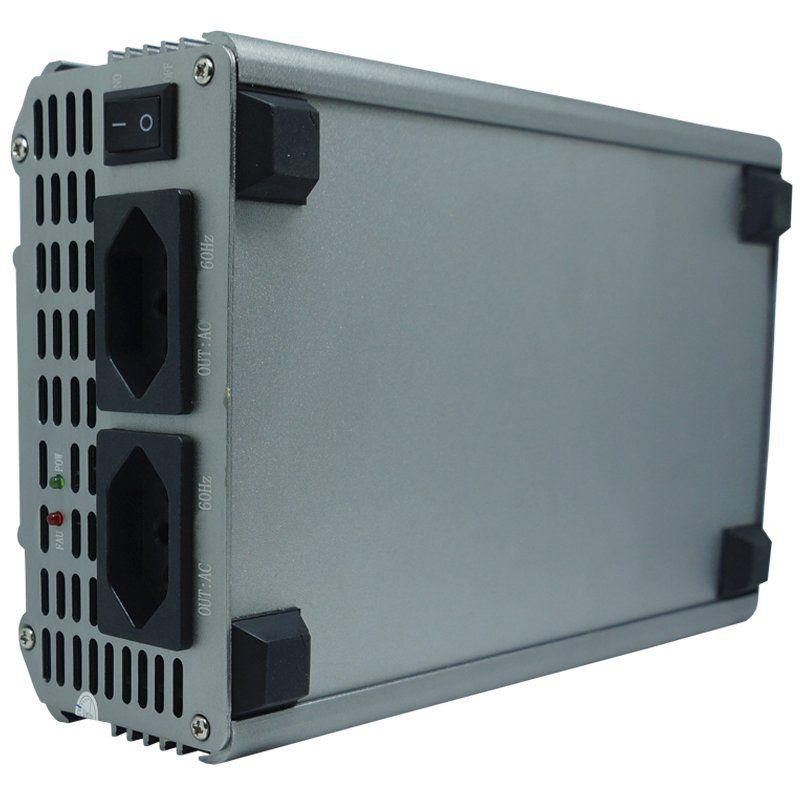 Inversor Conversor 24V para 220V Potência 3000W Veicular Transformador Tensão Knup KP-546B Cinza