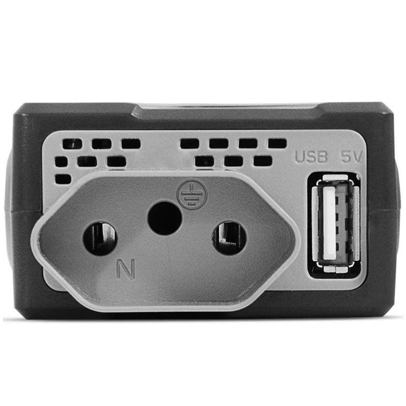 Inversor Conversor de Potência 150W Veicular Tensão 12V para 220V Usb Multilaser AU901 Preto  - BEST SALE SHOP