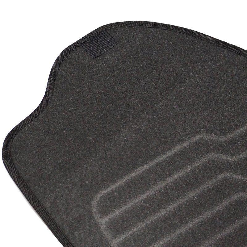 Jogo Tapete Automotivo Carpete + Lixeira Gol G6 2012 à 2016 Soft Logo Bordado Preto 6 Peças