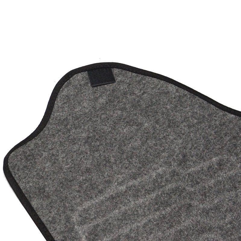 Jogo Tapete Automotivo Carpete + Lixeira Gol G7 2016 à 2019 Soft Logo Bordado Grafite 6 Peças