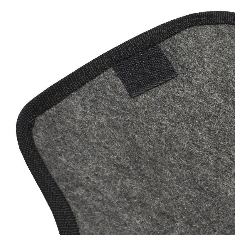 Jogo Tapete Automotivo Carpete + Lixeira Gol Quadrado G2 G3 G4 G5 80/13 Soft Logo Grafite 6 Peças