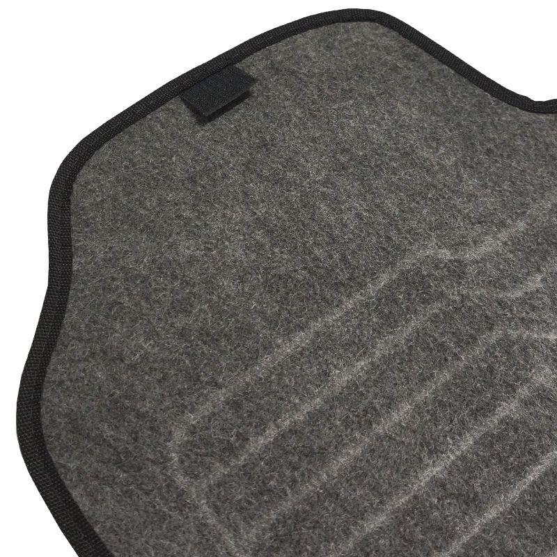 Jogo Tapete Automotivo Carpete + Lixeira New Civic 2014 à 2016 Soft Logo Bordado Grafite 4 Peças