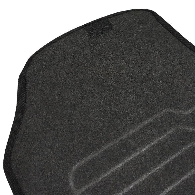 Jogo Tapete Automotivo Carpete + Lixeira New Civic 2014 à 2016 Soft Logo Bordado Preto 4 Peças