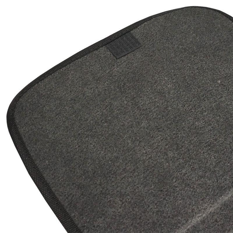 Jogo Tapete Automotivo Carpete + Lixeira New Fit 2009 à 2014 Soft Logo Bordado Preto 6 Peças