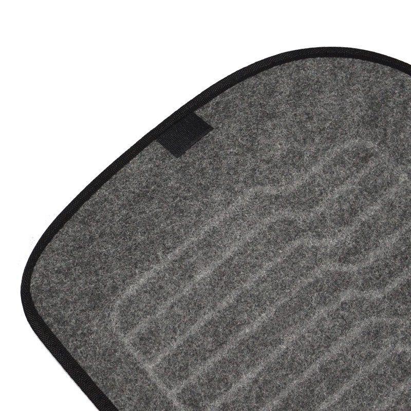 Jogo Tapete Automotivo Carpete + Lixeira Renault Kwid 2017 à 2019 Soft Logo Bordado Grafite 6 Peças