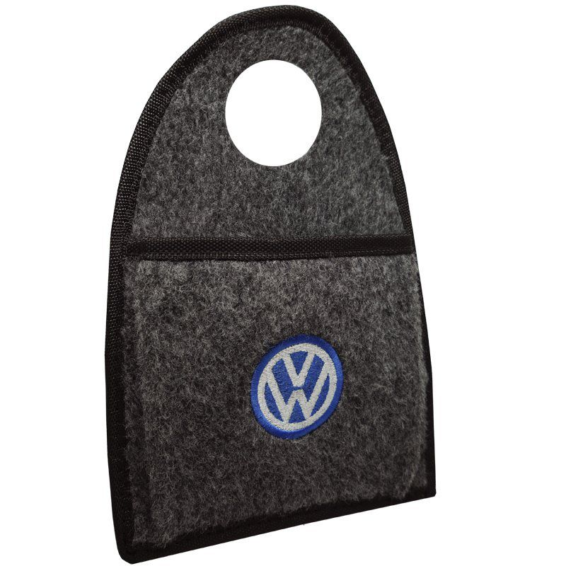 Jogo Tapete Automotivo Carpete + Lixeira Volkswagen Polo 1997 à 2001 Soft Logo Bordado Grafite 6 Pçs