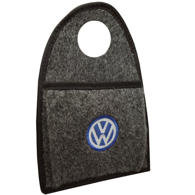 Jogo Tapete Automotivo Carpete + Lixeira Volkswagen Polo 2018 à 2019 Soft Logo Bordado Grafite 6 Pçs