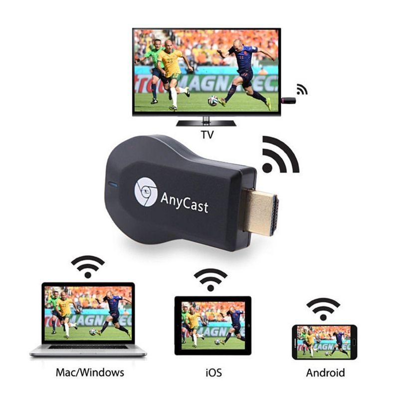 Kit 2 Adaptadores Espelhamento Tv Mirascreen Anycast M4 Plus Hdmi Full Hd 1080p = Chomecast Wecast  - BEST SALE SHOP