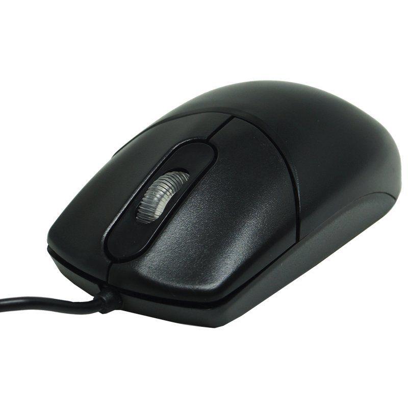 Kit 2 Mouse com Fio Óptico Usb Cabo 1000 Dpi Exbom MS-70 Preto
