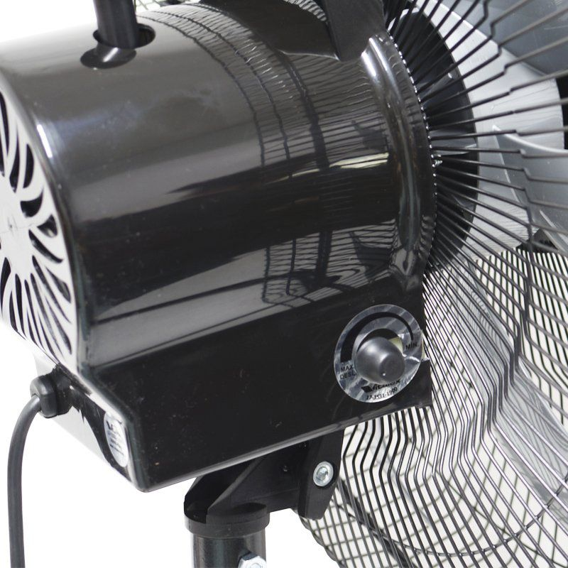 Kit 2 Ventiladores Mesa Chão 50cm Bivolt 110V 220V 200W Turbo Turbão 6 Pás Vitalex OM50FP Preto