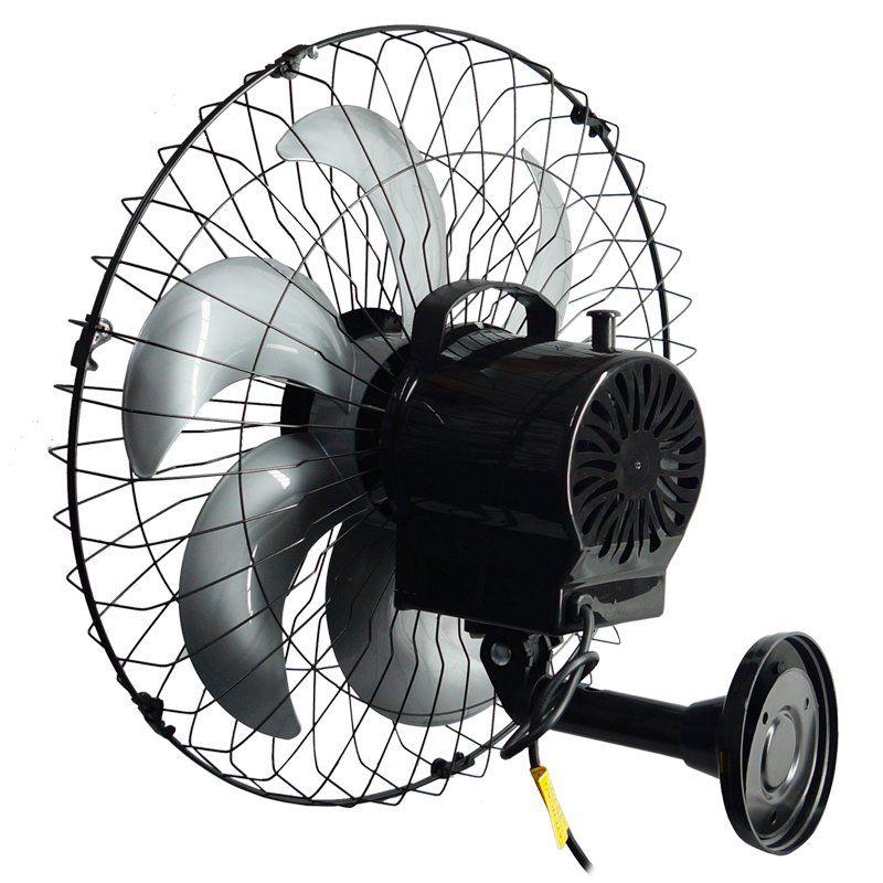 Kit 2 Ventiladores Parede 50cm 110V 127V 220W Industrial Turbo Turbão 6 Pás Vitalex OP50AP110 Preto