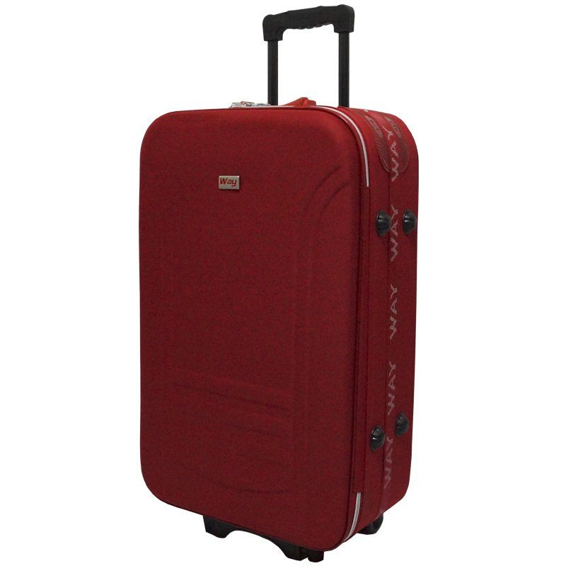 Kit 3 Malas de Viagem Jogo Conjunto Pequena Média Grande com Rodinha Importway Vermelha 19/23/27´´  - BEST SALE SHOP