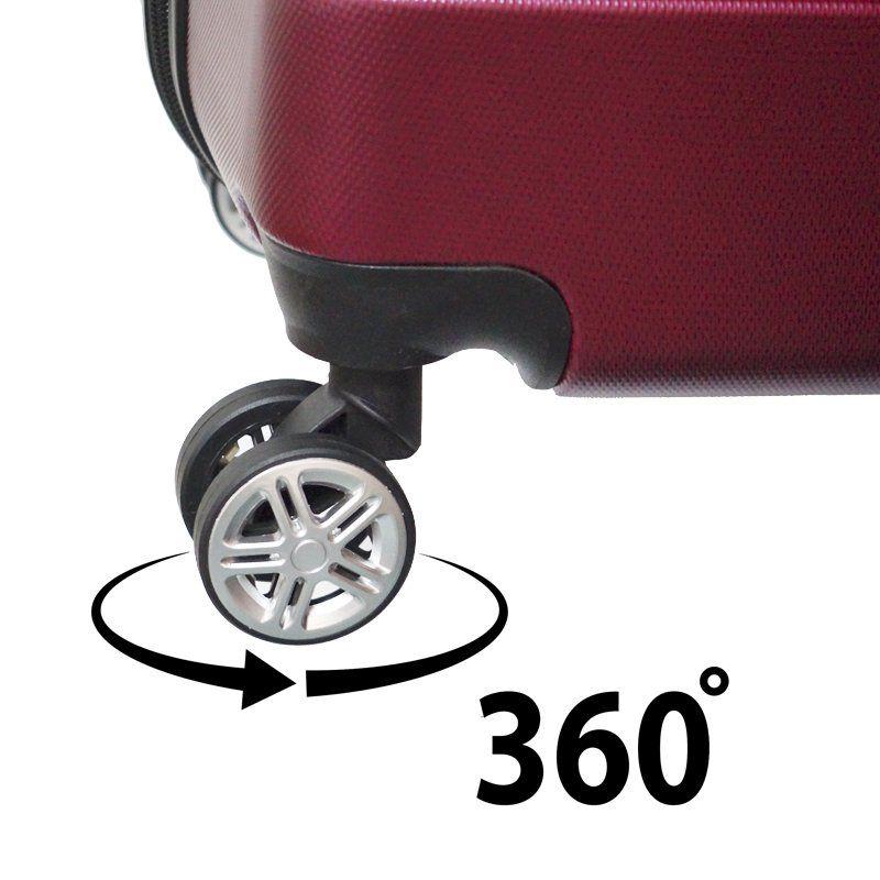 Kit 3 Malas de Viagem Rígida Abs Policarbonato Rodinha 360 Jogo Pequena Média Grande Importway Bordô