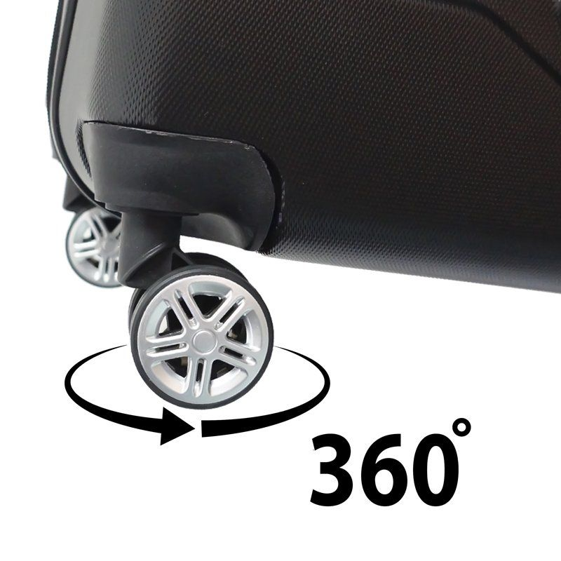 Kit 3 Malas de Viagem Rígida Abs Policarbonato Rodinha 360 Jogo Pequena Média Grande Importway Preta