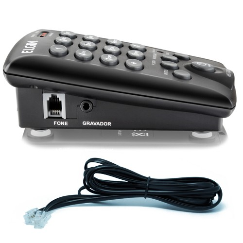 Kit 5 Telefones Headset com Base Discadora Teclado Elgin HST 6000 Telemarketing Preto  - BEST SALE SHOP