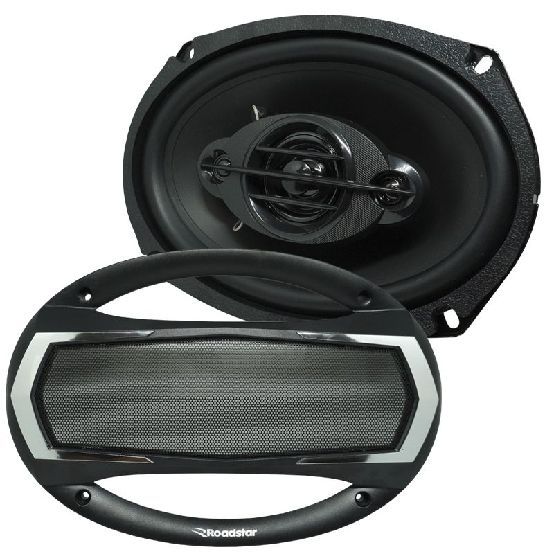 Kit Alto Falante 2 x 6,5 Polegadas + 2 x 6x9 Polegadas 370W Rms Roadstar Unit Quadriaxial  - BEST SALE SHOP