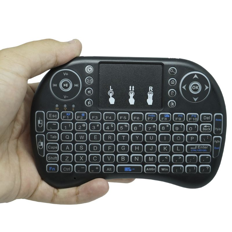 Kit Aparelho Conversor Smart Box Tv 16Gb + Teclado Iluminado Android Infokit 4K 3D HD Wifi  - BEST SALE SHOP