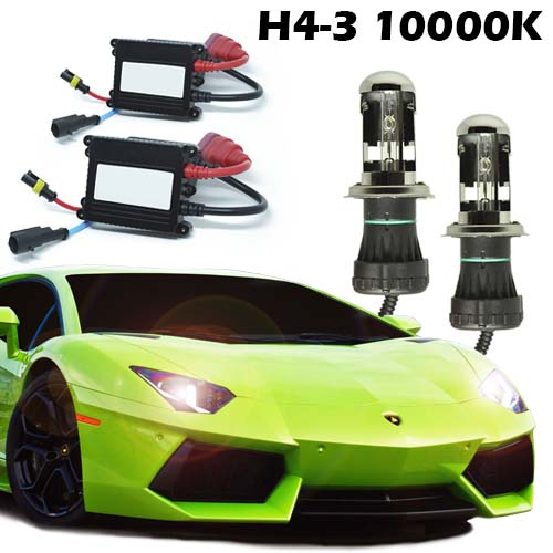 Kit Bi Xenon Carro 12V 35W H4-3 10000K