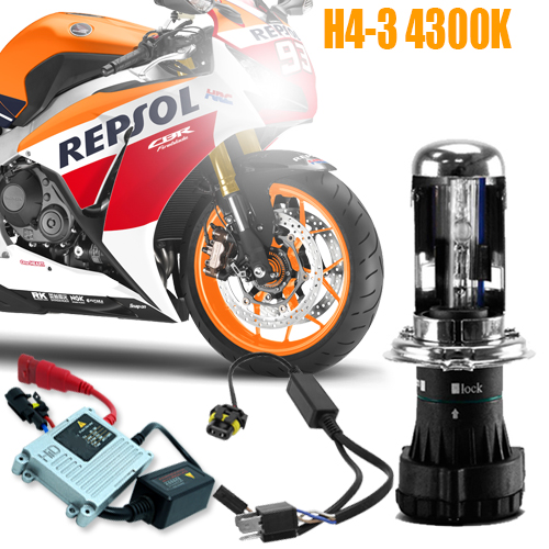 Kit Bi Xenon Moto 12V 35W H4-3 4300K  - BEST SALE SHOP