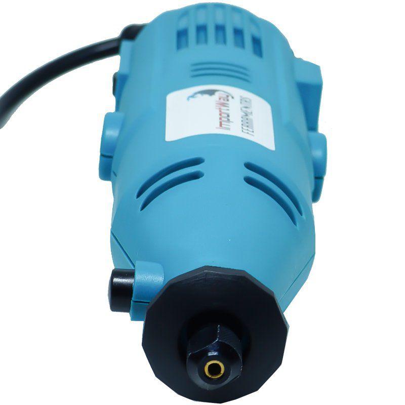 Kit Micro Retífica 250W 160 Pçs Acessórios Ferramentas c/ Maleta Retificadeira Importway 110V 127V