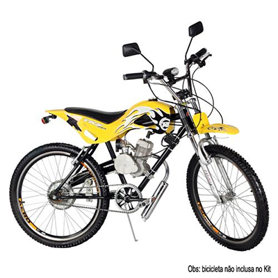 Kit Motor Bicicleta Gasolina Importway 80CC 2 Tempos Prata  - BEST SALE SHOP