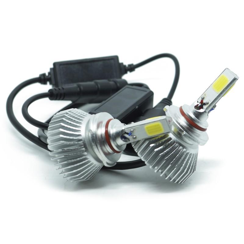 Kit Par Lâmpada Super Led Automotiva Farol Carro 3D HB4 9006 8000 Lumens 12V 24V 6000K