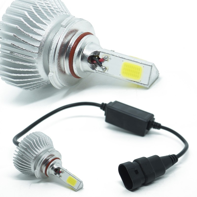 Kit Par Lâmpada Super Led Automotiva Farol Carro 3D HB4 9006 8000 Lumens 12V 24V 6000K