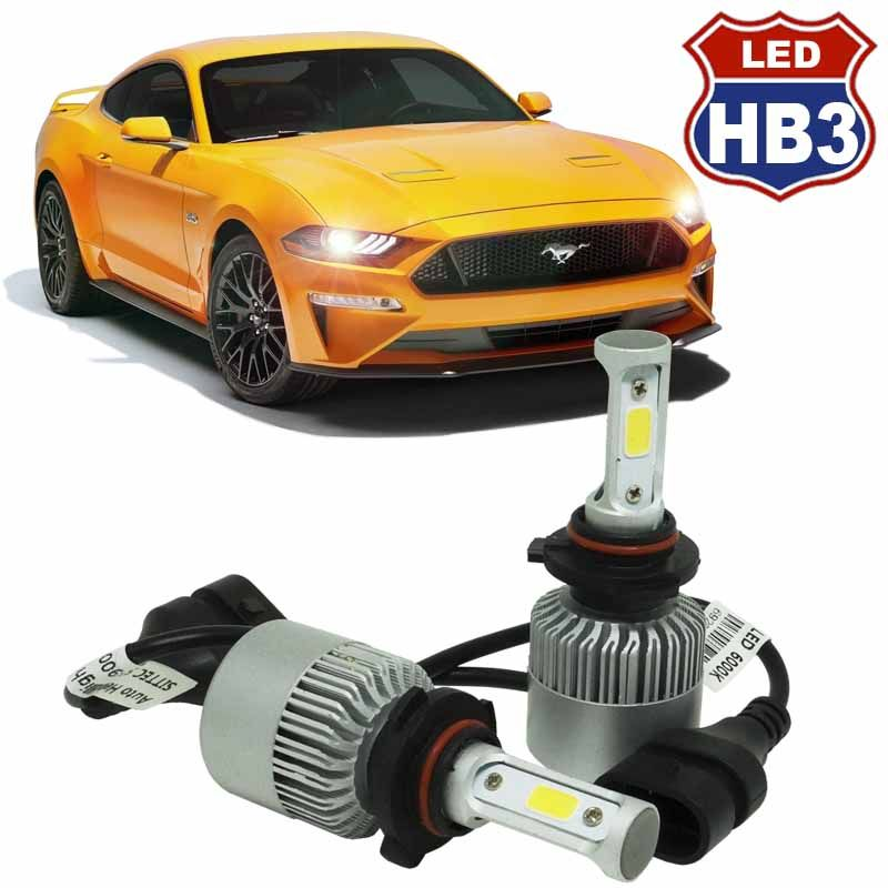 Kit Par Lâmpada Super Led Automotiva Carro HB3 9005 10000 Lumens 12/24V 6000K