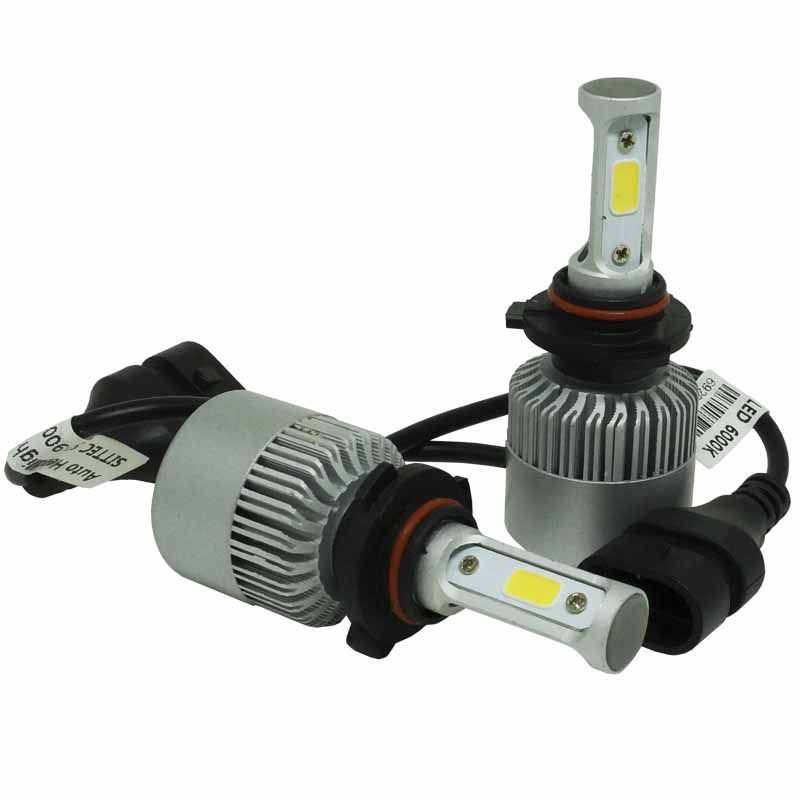 Kit Par Lâmpada Super Led Automotiva Carro HB3 9005 10000Lm 12/24V Guzz 6000K