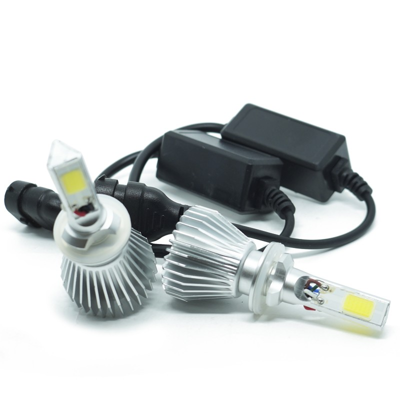 Kit Par Lâmpada Super Led Automotiva Farol Carro 3D H27 8000 Lumens 12V 24V First Option 6000K  - BEST SALE SHOP