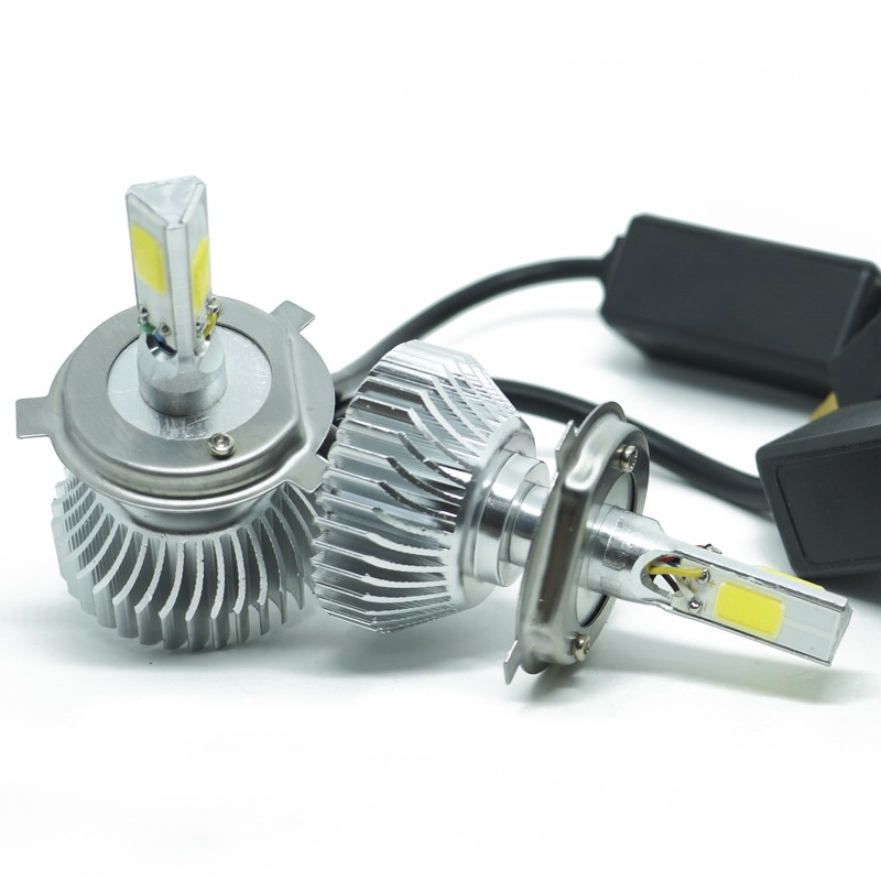 Kit Par Lâmpada Super Led Automotiva Farol Carro 3D H4 (Bi) 8000 Lumens 12V 24V First Option 6000K  - BEST SALE SHOP