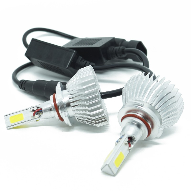 Kit Par Lâmpada Super Led Automotiva Farol Carro 3D HB3 9005 8000 Lumens 12V 24V First Option 6000K  - BEST SALE SHOP
