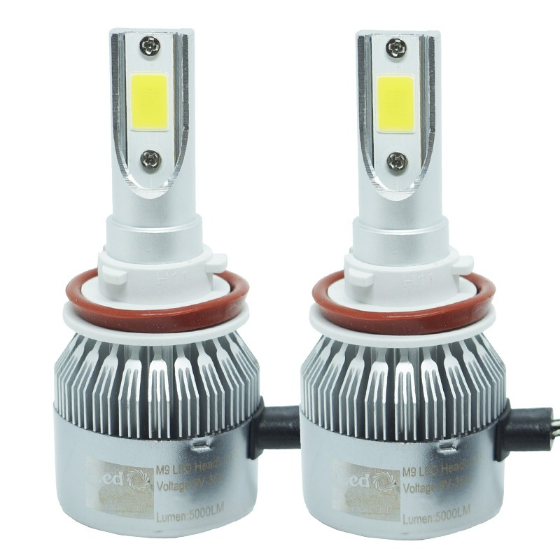 Kit Par Lâmpada Super Led Automotiva Farol Carro H11 10000 Lumens 12/24V 6000K