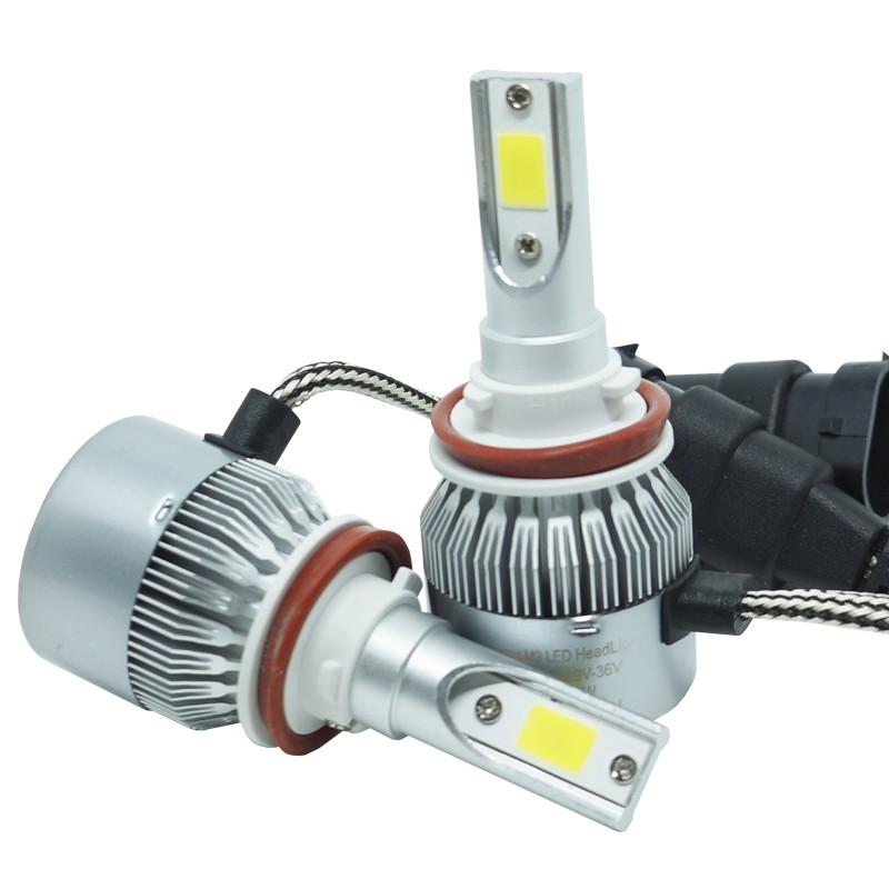 Kit Par Lâmpada Super Led Automotiva Farol Carro H11 10000Lm 12/24V Guzz 6000K  - BEST SALE SHOP