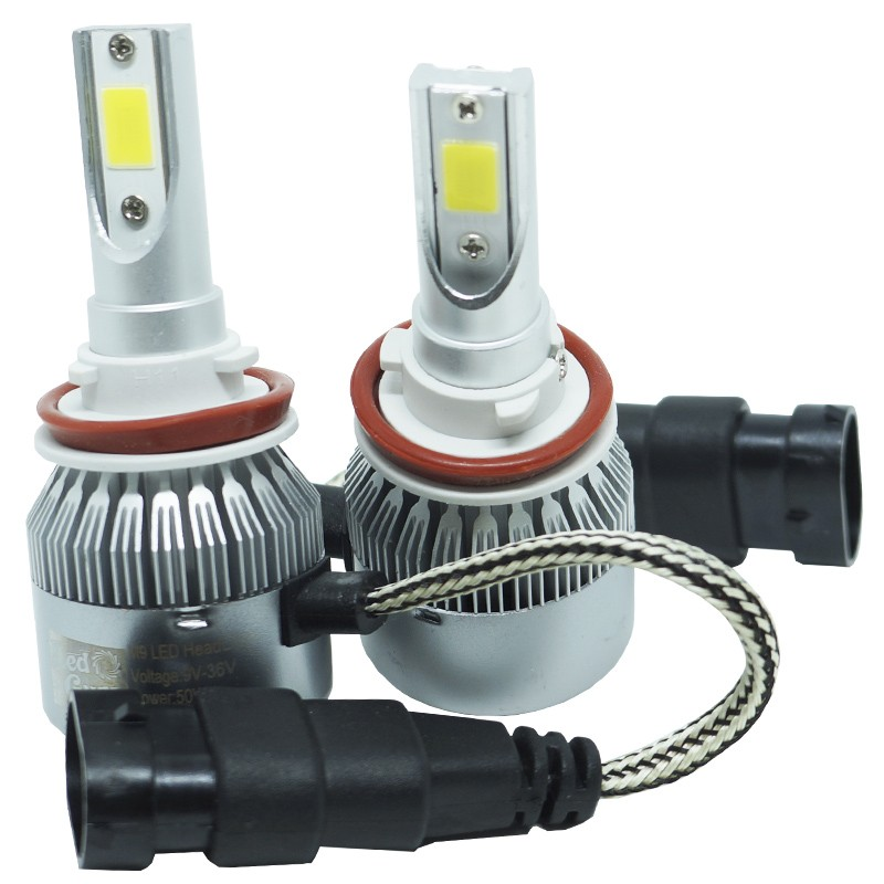 Kit Par Lâmpada Super Led Automotiva Farol Carro H11 10000Lm 12/24V Guzz 6000K