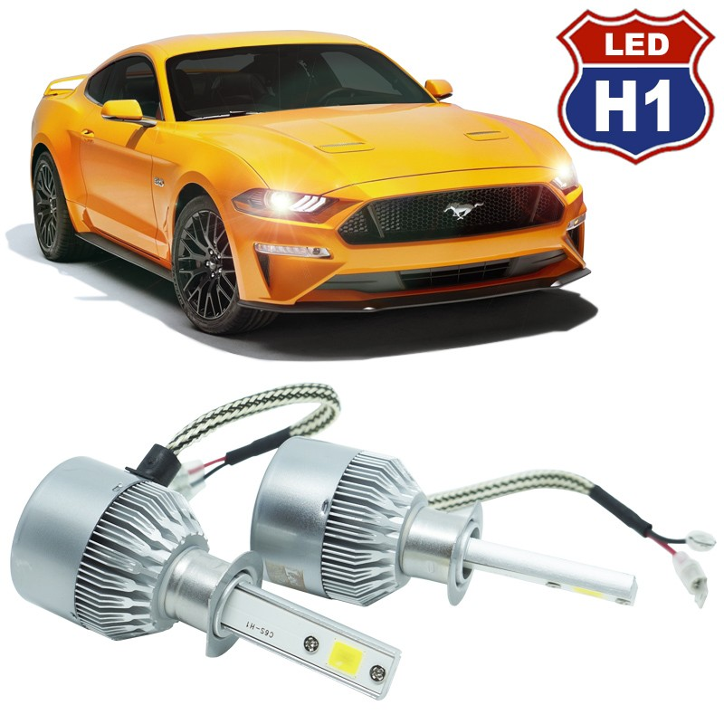 Kit Par Lâmpada Super Led Automotivo Farol Carro Caminhão H1 10000 Lumens M9C 12V 24V 6000K