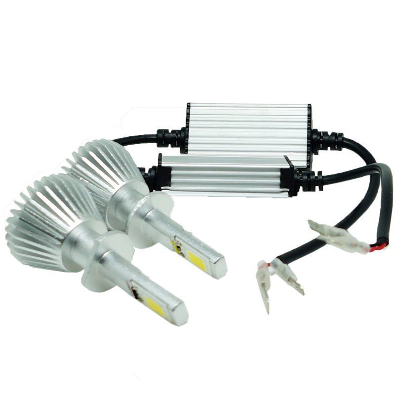 Kit Par Lâmpada Super Led Automotiva Farol Carro H1 6000 Lumens 12V 24V First Option 6000K