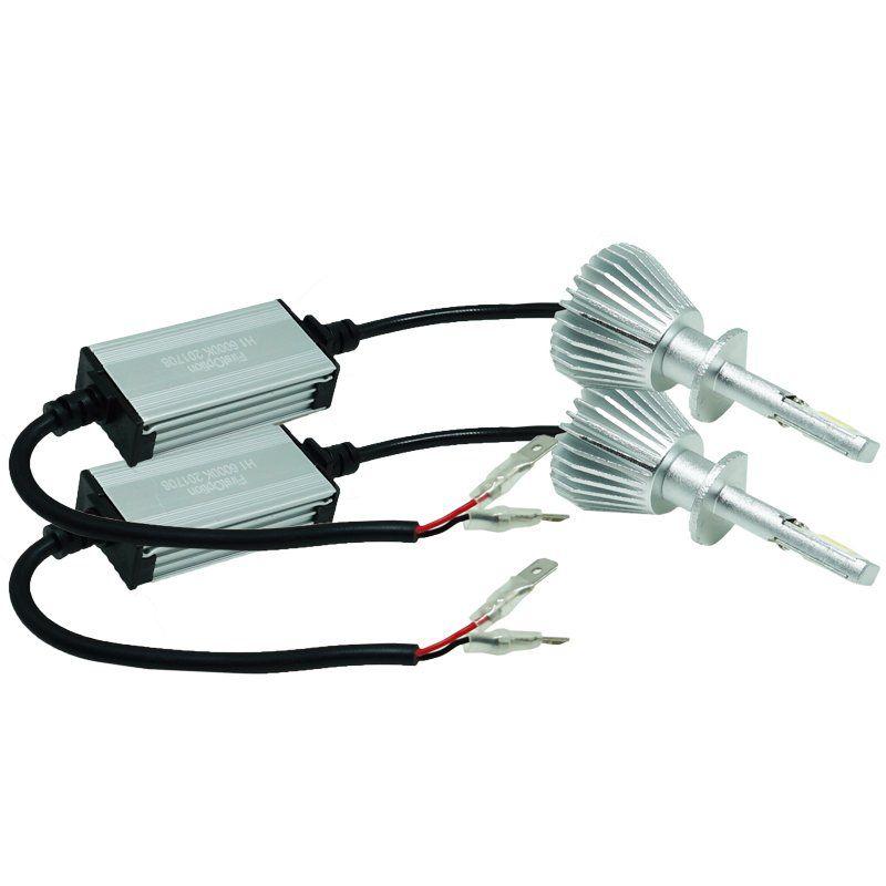 Kit Par Lâmpada Super Led Automotiva Farol Carro H1 6000 Lumens 12V 24V First Option 6000K  - BEST SALE SHOP