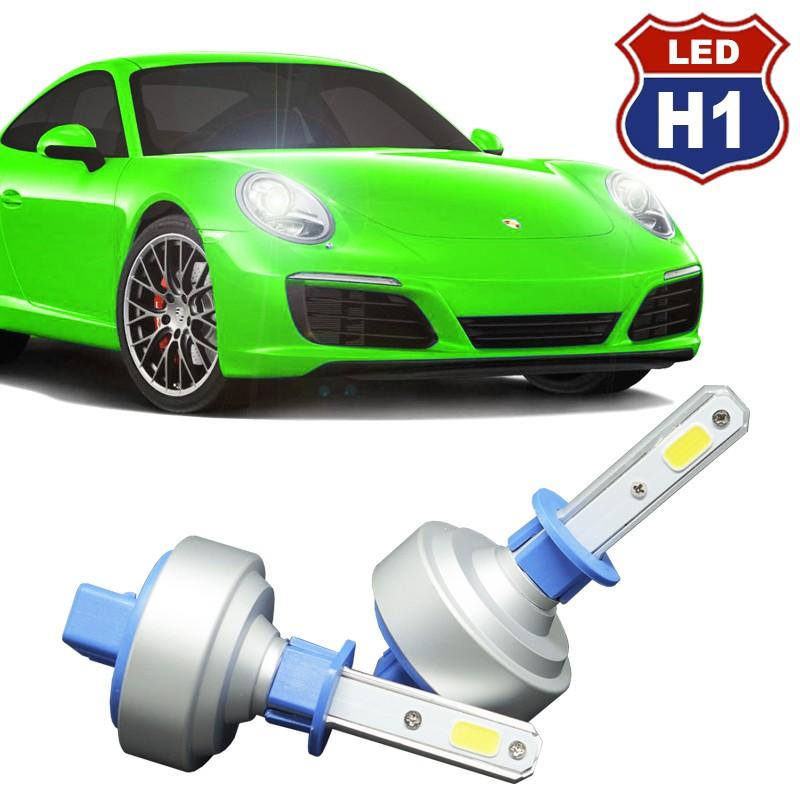Kit Par Lâmpada Super Led Automotiva Plug Original Farol Carro H1 9000Lm 12/24V 6000K  - BEST SALE SHOP