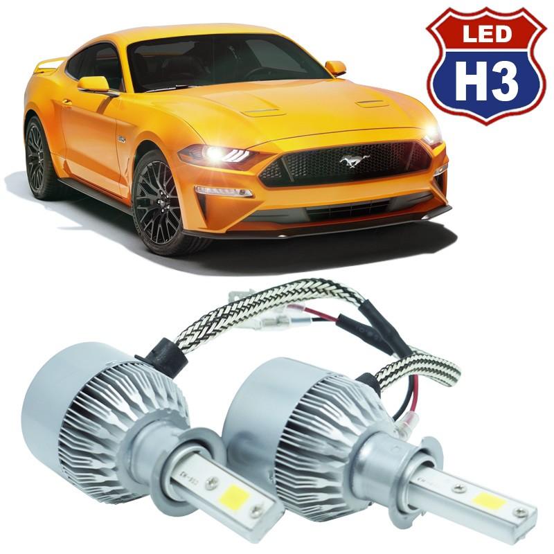 Kit Par Lâmpada Super Led Automotiva Farol Carro H3 10000 Lumens 12/24V 6000K  - BEST SALE SHOP