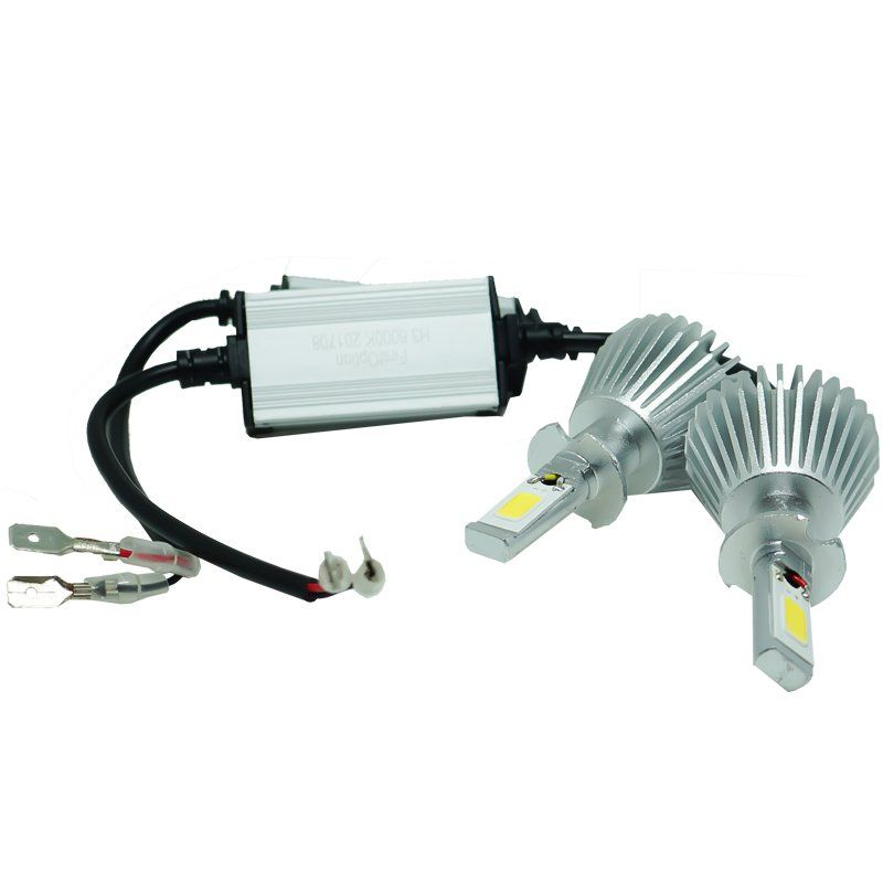 Kit Par Lâmpada Super Led Automotiva Farol Carro H3 6000 Lumens 12V 24V First Option 6000K