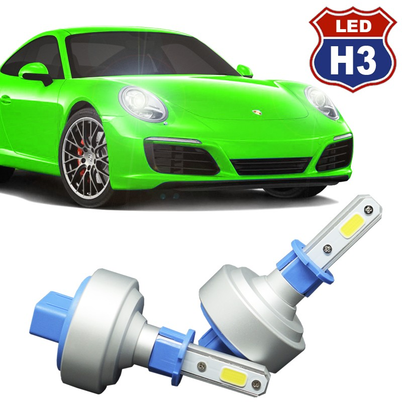 Kit Par Lâmpada Super Led Automotiva Plug Original Farol Carro H3 9000Lm 12/24V 6000K  - BEST SALE SHOP