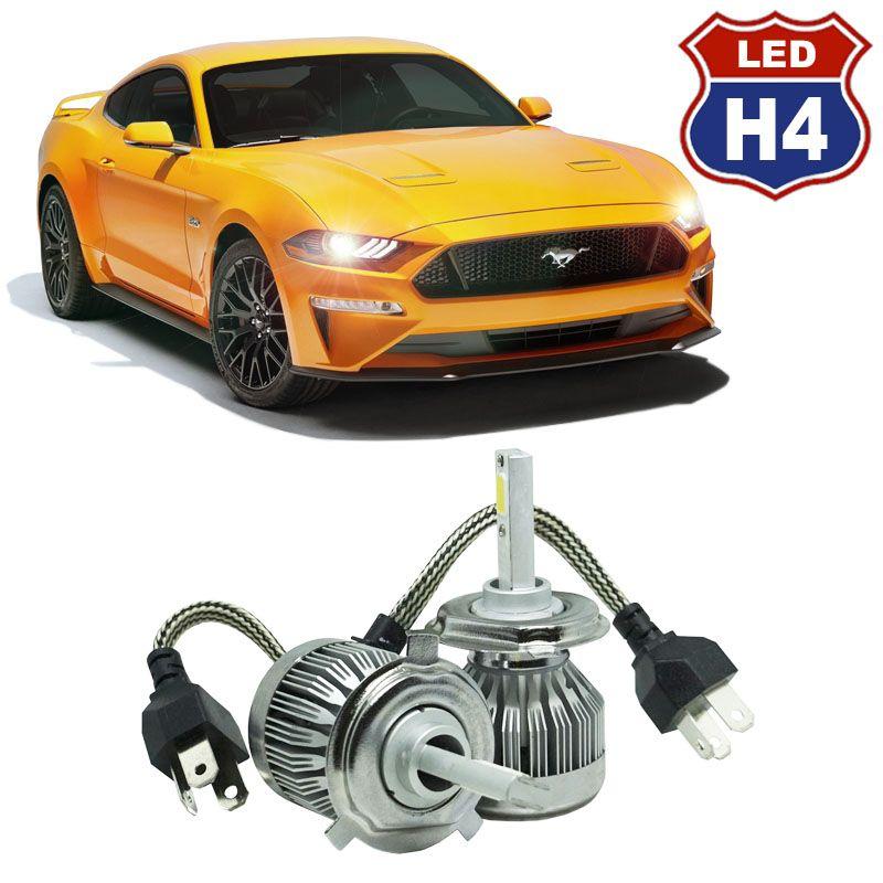 Kit Par Lâmpada Super Led Automotiva Farol Carro H4 Bi 10000 Lumens 12/24V 6000K