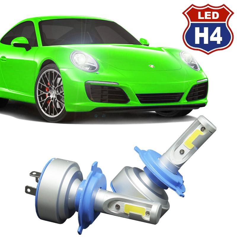Kit Par Lâmpada Super Led Automotiva Plug Original Farol Carro H4 Bi 9000Lm 12/24V 6000K  - BEST SALE SHOP