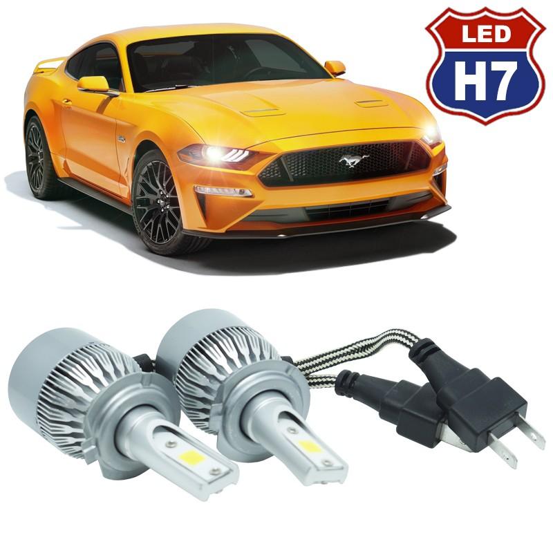 Kit Par Lâmpada Super Led Automotivo Farol Carro Caminhão H7 10000 Lumens M9C 12V 24V 6000K