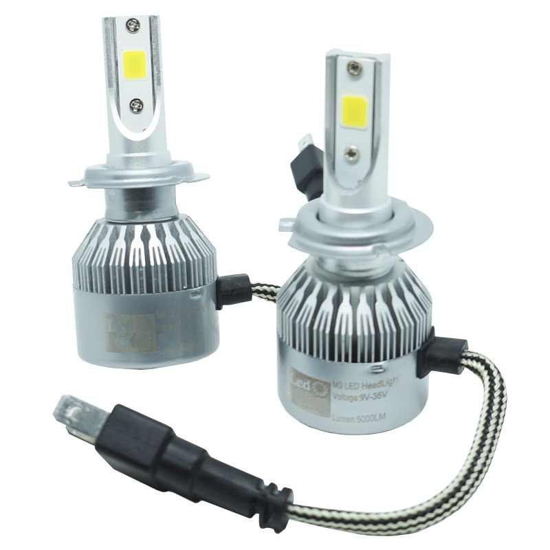Kit Par Lâmpada Super Led Automotiva Farol Carro H7 10000 Lumens 12/24V 6000K  - BEST SALE SHOP