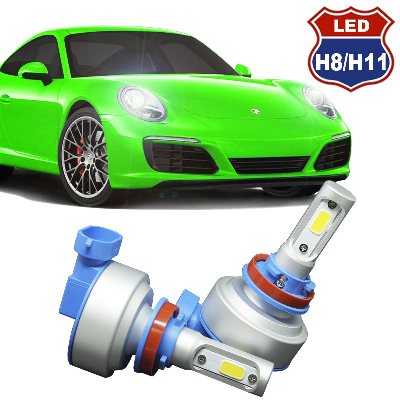 Kit Par Lâmpada Super Led Automotiva Plug Original Farol Carro H8 H11 9000Lm 12/24V 6000K  - BEST SALE SHOP
