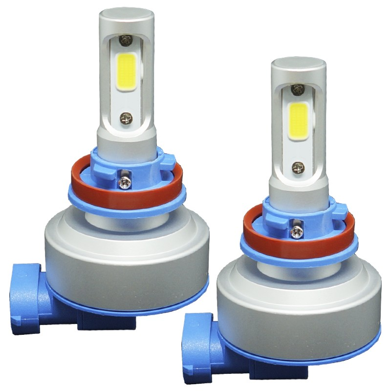 Kit Par Lâmpada Super Led Automotiva Plug Original Farol Carro H8 H11 9000Lm 12/24V Guzz 6000K