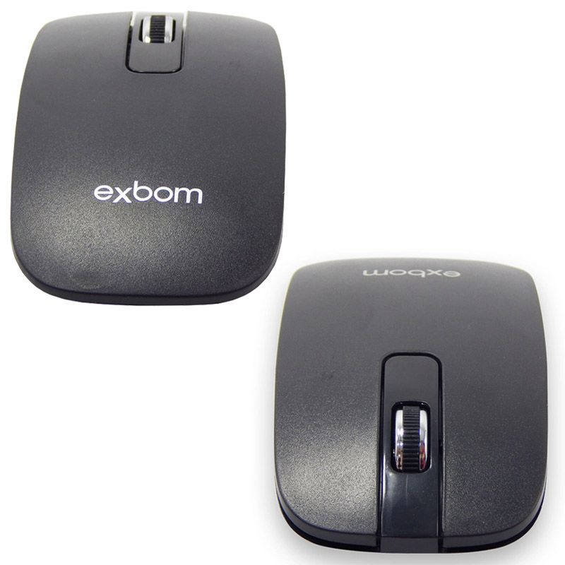 Kit Teclado + Mouse Sem Fio Wireless Usb Exbom BK-S1000 Preto com Capa Silicone