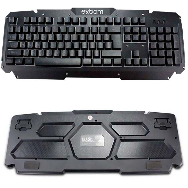 Kit Teclado Semi Mecânico + Mouse Gamer Profissional Usb Abnt2 Led Metal BK-G200 GM-600 Preto